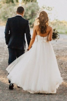 Chic Sweetheart Wedding Dresses | A-Line Open Back Bridal Gowns_5