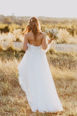 Chic Sweetheart Wedding Dresses | A-Line Open Back Bridal Gowns_3