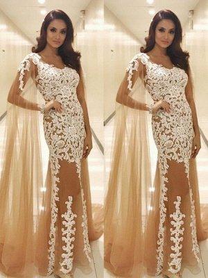 Long Lace Scoop Popular Prom Dresses_2