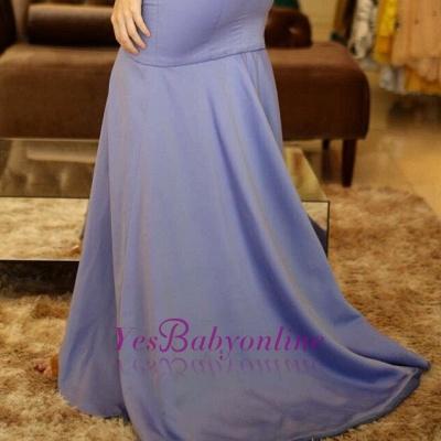 A-Line Sexy V-Neck Sleeveless Front-Slit Prom Dresses_1