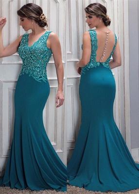 Mermaid Arrival Lace New Beaded V-Neck Prom Dress_2