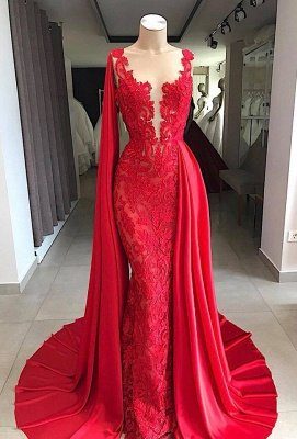 Gorgeous Sleeveless V-neck Appliques Prom Dresses with Watteau Train
