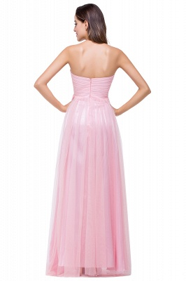 Ruffles  A-Line Simple Sweetheart Evening Gowns_4