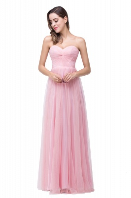 Ruffles  A-Line Simple Sweetheart Evening Gowns_2
