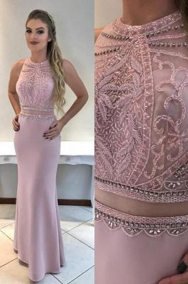 Beadings Gorgeous Mermaid Sleeveless Prom Dress_3