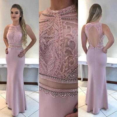 Beadings Gorgeous Mermaid Sleeveless Prom Dress_2