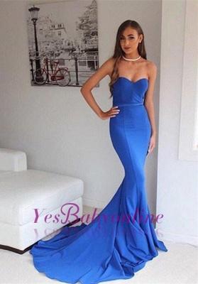 Sweetheart Floor-Length Mermaid Elegant Sweep-Train Prom Dress_1