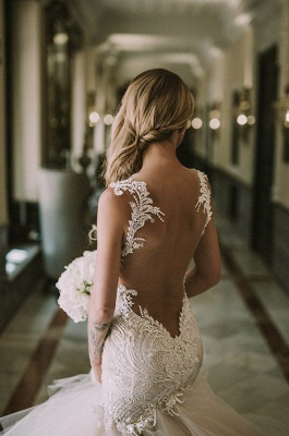 Modern Lace Sexy Mermaid Wedding Dresses   New Tulle Bridal Gowns_4