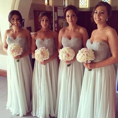 Chiffon A-line Floor-Length Mint Bridesmaid Dresses_3