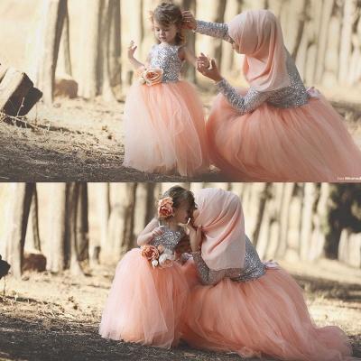 Tulle Sweet Sequined Flower Girl Dresses | Lovely Sequined Girls Pageant Dress BA0657_2