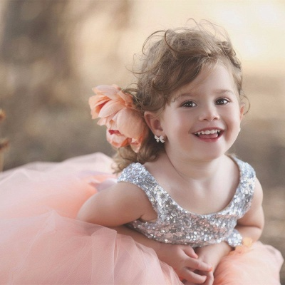 Tulle Sweet Sequined Flower Girl Dresses | Lovely Sequined Girls Pageant Dress BA0657_3