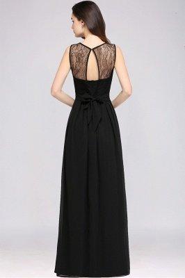 A-Line  Lace Jewel Sleeveless Keyhole Floor-Length Bridesmaid Dresses_2