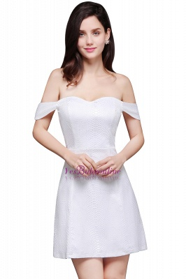 Special In-Stock Occasion New Off-Shoulder Women Short A-Line Evening Dresses_2