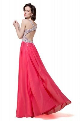 V-Neck A-Line Open-Back Modest Sleeveless Crystal Prom Dress_3