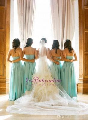 Sweetheart Sleeveless Chiffon Elegant Bridesmaid Dress_1