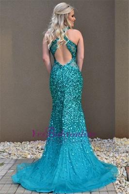 Open-Back Crystal Open-Back Sexy Sleeveless Mermaid Prom Dress_1