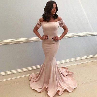 Elegant Spaghetti-Strap Evening Dresses | Bateau Mermaid Prom Dresses_4