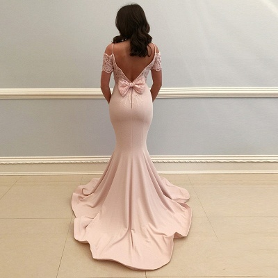 Elegant Spaghetti-Strap Evening Dresses | Bateau Mermaid Prom Dresses_3