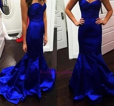 Glamorous Mermaid Royal-Blue Sweetheart Evening Dress_1