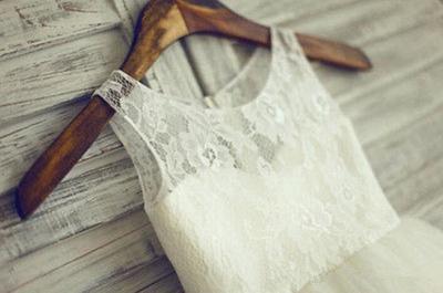 Affordable Short Lace Flower Girl Dresses_3