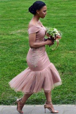 Off The Shoulder Pink Bridesmaid Dresses Cheap Online | Appliques Mermaid Sexy Short Bridesmaid Dress 2019 BA9508_1