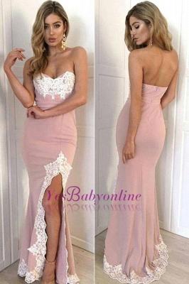 Appliques Long Split Lace Mermaid Sweetheart Gorgeous Prom Dress_1