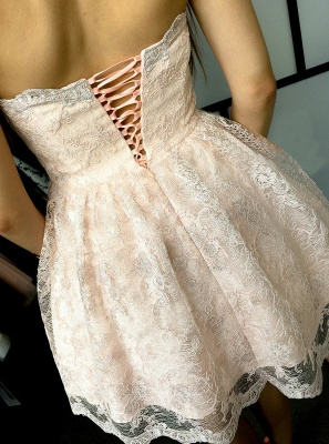 Elegant Sweetheart Homecoming Dresses | Sleeveless Lace-Up Cocktail Dresses_3