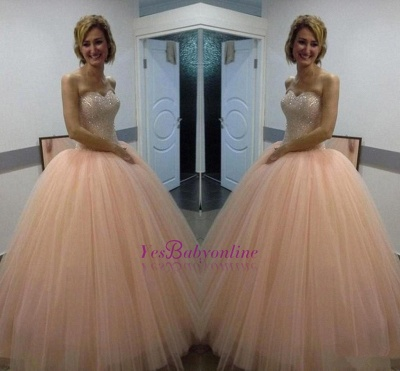 Ball-Gown Sweetheart Sequins Beautiful Tulle Evening Dress_1