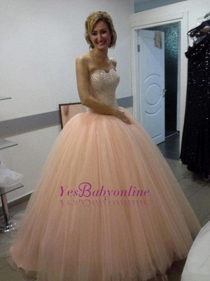 Ball-Gown Sweetheart Sequins Beautiful Tulle Evening Dress_4