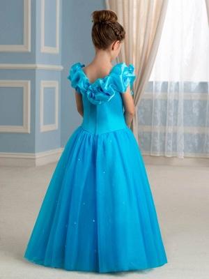 Cute A-Line Tulle Scoop Floor-Length Flower Girl Dress_3