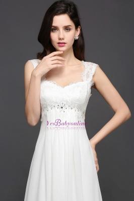 Long Ivory Elegant Applique In-Stock Strap  Evening Dresses_5