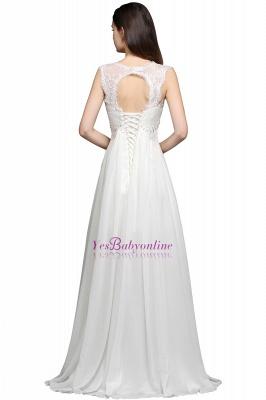 Long Ivory Elegant Applique In-Stock Strap  Evening Dresses_2