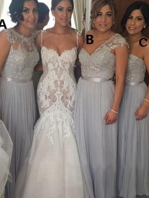 Gorgeous Spaghetti Strap Mermaid Lace Wedding Dresses_1