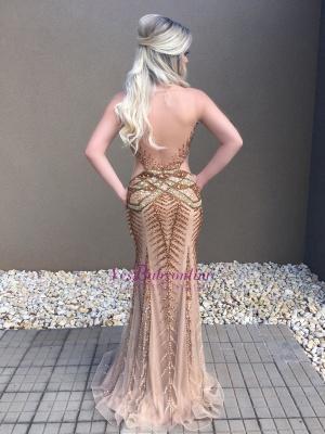 Luxurious Crystal Mermaid Long Prom Dress_1