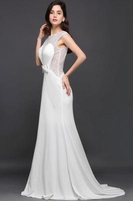 Mermaid Long Sleeve Cap Ivory Chic Sheer Jewel Evening Dresses_5