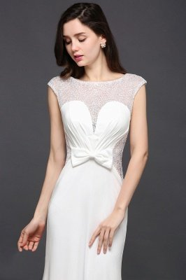 Mermaid Long Sleeve Cap Ivory Chic Sheer Jewel Evening Dresses_4