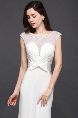 Mermaid Long Sleeve Cap Ivory Chic Sheer Jewel Evening Dresses_4