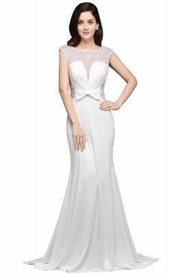 Mermaid Long Sleeve Cap Ivory Chic Sheer Jewel Evening Dresses_3