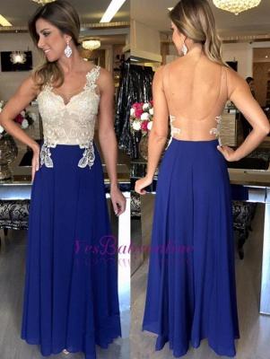 Applique Open-Back Natural Elegant A-Line Sleeveless Prom Dresses_1