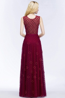 Elegant A-Line Evening Dresses | Scoop Sleeveless Beading Long Formal Dresses_6