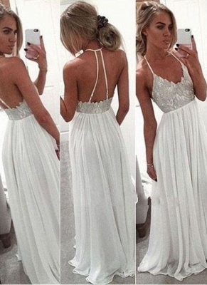 Backless  Long Halter-Neck Sexy Prom Dresses_2