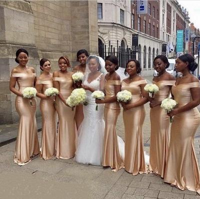 Elegant Mermaid Bridesmaid Dresses | Off-The-Shoulder Long Wedding Party Dresses_3