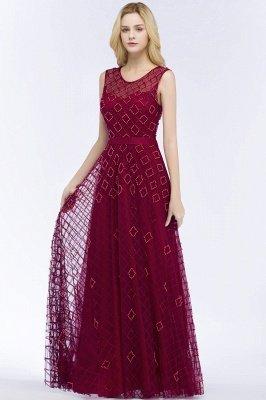 Elegant A-Line Evening Dresses | Scoop Sleeveless Beading Long Formal Dresses_3