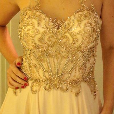 Sleeveless Glamorous Scoop  A-Line Beading Prom Dresses_4
