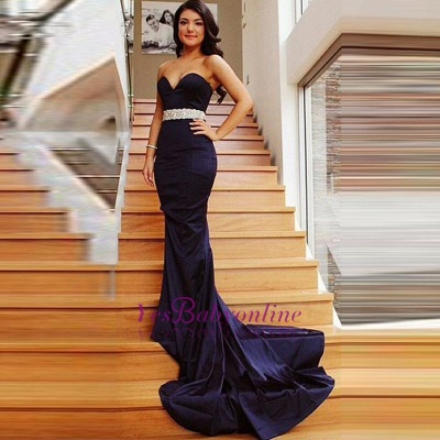 2019 Mermaid Prom Dresses Sweetheart Neck Beading Long Evening Gowns_1