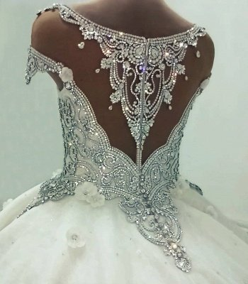 Luxury Crystal Ball Gown Wedding Dresses | Amazing Sparkly Bridal Gowns_4