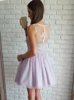 Chic A-Line Short Homecoming Dresses | Zipper Sleeveless Cocktail Dresses_3