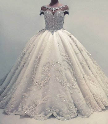 Luxury Crystal Ball Gown Wedding Dresses | Amazing Sparkly Bridal Gowns_2