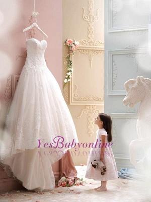 Sweep Train Sleeveless Modern Lace Spaghetti-Strap Tulle Wedding Dress_1