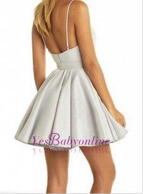 Short V-neck Lace Cute Sleeveless Homecoming Dress_6